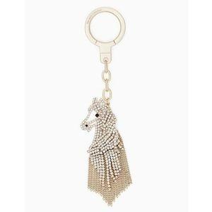 ♠️ kate spade horse keychain ♠️